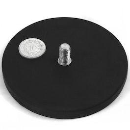 GTNG-88 rubber gecoate potmagneet met draadeinde, Ø 88 mm, schroefdraad M8
