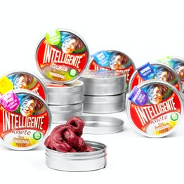 Smart putty 'Mini' in small tins, different colours, not magnetic!