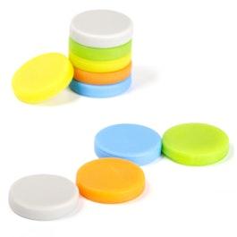 Dischi magnetici con rivestimento di silicone magnetici su entrambi i lati, set da 10, Ø 18 mm, colori assortiti