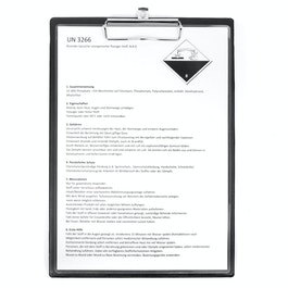 Clipboard black magnetic, with foil coating, A4 format