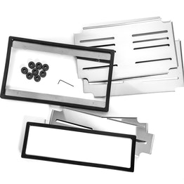 Support plaque immatriculation interchangeable 'Perfect Click' format vertical support magnétique pour plaque d'immatriculation, pour des plaques d'immatriculation au format vertical, 1 kit pour équiper 2 voitures