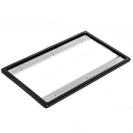 Marco intercambiable para formato vertical trasero pieza de repuesto para soporte de matrículas, de aluminio, negro