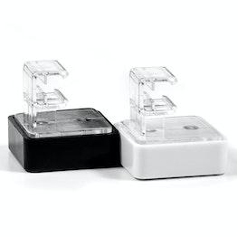 Aimant avec support pour cadre affiche système magnétique en ferrite dans boitier en plastique, avec adaptateur horizontal