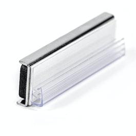 Porte-panneau magnétique avec pince alignée horizontale, en matière synthétique