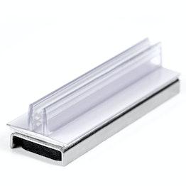 Porte-panneau magnétique avec pince verticale, orientée vers le haut, en matière synthétique