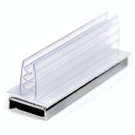 Portacarteles magnético con pinza vertical ascendente, de plástico