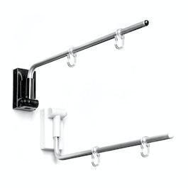 Bannerhouder magnetisch, gebogen met twee kunststof haken, met drukknop over 180° verstelbaar