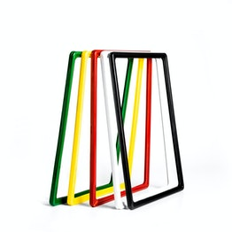 Sign frame A4 made of plastic, with rounded corners, u-pocket included