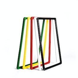 Kaartraam A4 van kunststof, met afgeronde hoeken, inclusief insteekhoes
