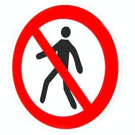 Verbotsschilder magnetisch Für Fußgänger verboten