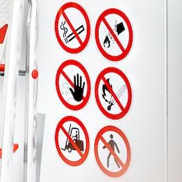 Verbotsschilder magnetisch verschiedene Verbotszeichen