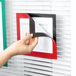 Magnet-Rahmen selbstklebend A5 magnetische Infotaschen zum Aufhängen von Hinweisen, Format A5