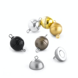 Jewellery clasp magnetic round small for necklaces / bracelets, Ø 8 mm