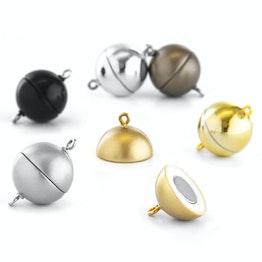 Schmuckverschluss magnetisch rund gross für Ketten / Armbänder, Ø 15 mm