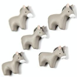 Aimants pour frigo 'Donkey' en forme d'âne, lot de 5