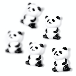 Panda aimants décoratifs en forme de panda, lot de 5