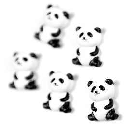 Panda Dekomagnete in Panda-Form, 5er-Set