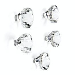 Aimants 'Jewel' en forme de pierres précieuses, lot de 5