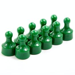 """Magneetpins """"Player"""" prikbordmagneten in de vorm van een speelfiguur, Ø 12.5 mm, set van 10, groen"""
