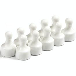 Magneetpins 'Player' prikbordmagneten in de vorm van een speelfiguur, Ø 12,5 mm, set van 10, wit