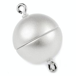 Chiusura magnetica bianca opaca per collane / bracciali, Ø 8 mm