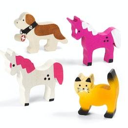 Trauffer Holztiere magnetisch handgemachte Kühlschrankmagnete, 4 verschiedene Tiere erhältlich