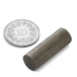 SALE-126 Stabmagnet Ø 9.37 mm, Höhe 26.35 mm, Neodym, 45SH, unbeschichtet, diametral magnetisiert