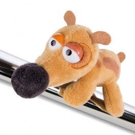 MagNICI magnetische pluchedieren Pat de hond, met magneten in de pootjes, ca. 12 cm
