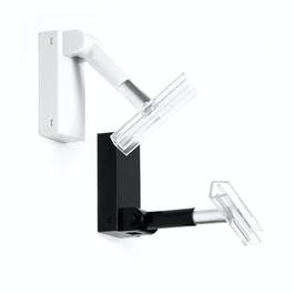 Drehhalter magnetisch Ferrit-Magnetsystem im Kunststoffgehäuse, mit Druckknopf um 180° schwenkbar