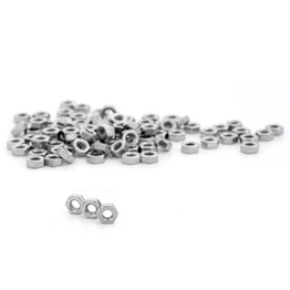 Hex nut M4 made of stainless steel A2, 100 pieces per package