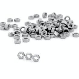 Tuerca hexagonal M5 de acero inoxidable A2, 100 uds. por paquete