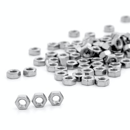 Tuerca hexagonal M6 de acero inoxidable A2, 100 uds. por paquete
