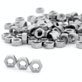 Hex nut M8 made of stainless steel A2, 100 pieces per package