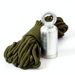 Magnete cerca-tesoro David 45 magnete per il recupero di oggetti metallici, con occhiello di sospensione e corda in nylon da 15 m