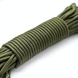Cuerda de polipropileno 5 mm x 15 m para pesca magnética, oliva, ¡no es una cuerda de escalada!