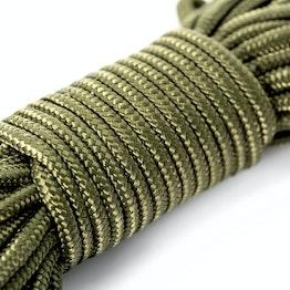 Cuerda de polipropileno 7 mm x 15 m para pesca magnética, oliva, ¡no es una cuerda de escalada!
