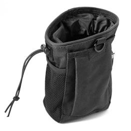 Bolsa multiusos abertura de 14 cm, con cintas de sujeción, negro