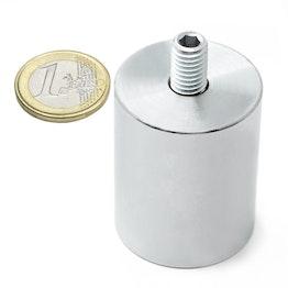BMN-TS-32 base magnetica con Ø 32 mm e gambo filettato, filettatura M8