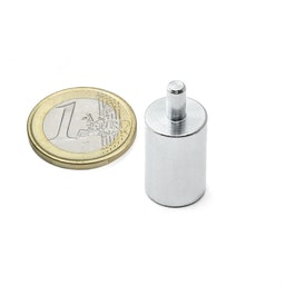 BMN-PP-13 deep pot magnet Ø 13 mm with stud, stud Ø 4 mm