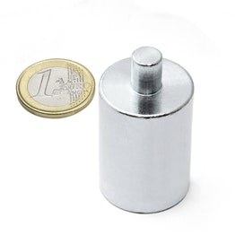 BMN-PP-25 base magnetica con Ø 25 mm e gambo, gambo Ø 8 mm