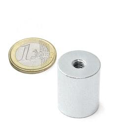BMN-IT-20 aimant grappin cylindrique Ø 20 mm avec filetage intérieur, tient env. 13 kg, pas de vis M6