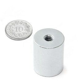 BMN-IT-20 deep pot magnet Ø 20 mm with internal thread, thread M6