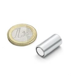 BMN-10 Cilindrische potmagneet Ø 10 mm met gladde behuizing