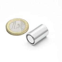 BMN-13 deep pot magnet Ø 13 mm with smooth housing