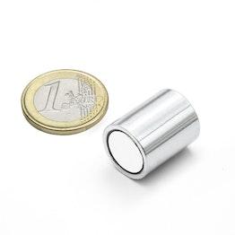 BMN-16 deep pot magnet Ø 16 mm with smooth housing