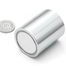 BMN-32 base magnética cilíndrica Ø 32 mm con revestimiento liso, sujeta aprox. 34 kg,