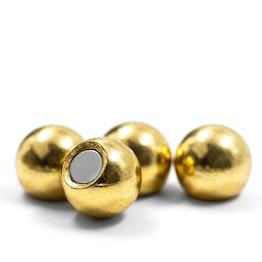 Aimants pour frigo 'Brass' en forme de billes, lot de 4, couleur or