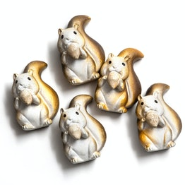Squirrel magnets squirrel-shaped fridge magnets, set of 5