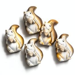 Aimants écureuils aimants pour frigo en forme d'écureuil, lot de 5