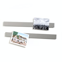 Metallleisten Edelstahl 50 cm, 2er-Set Haftgrund für Magnete, mit magnetischer Befestigung, inkl. 12 starke Magnete